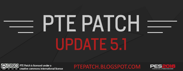 PES 2016 PTE Patch Update 5.1
