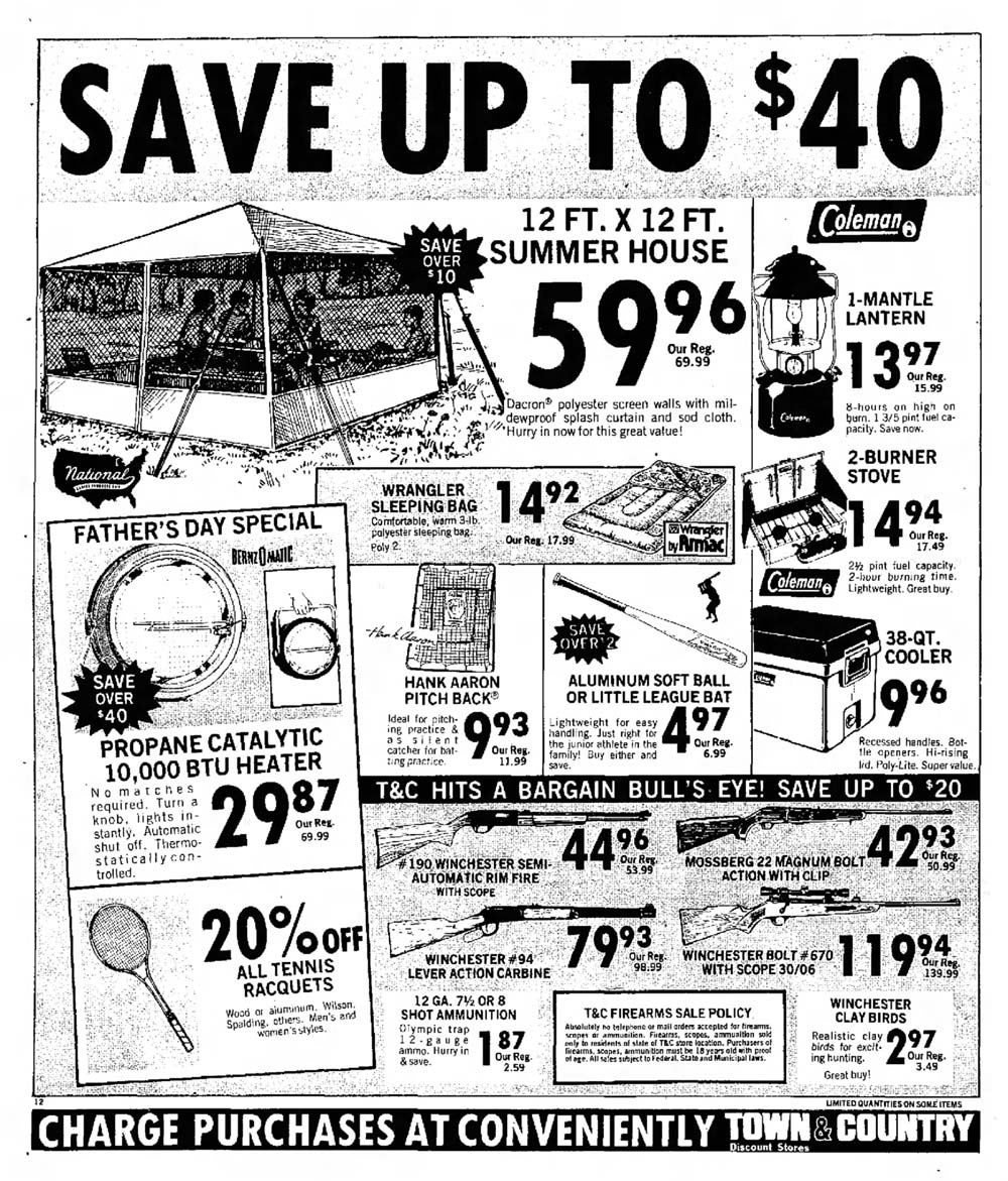 sky city retail history town country discount store 1969 Sears Christmas Catalog norman rockwell dads are waiting to be showered with gifts on fathers day they also want you to make sure you shop the specials at town country