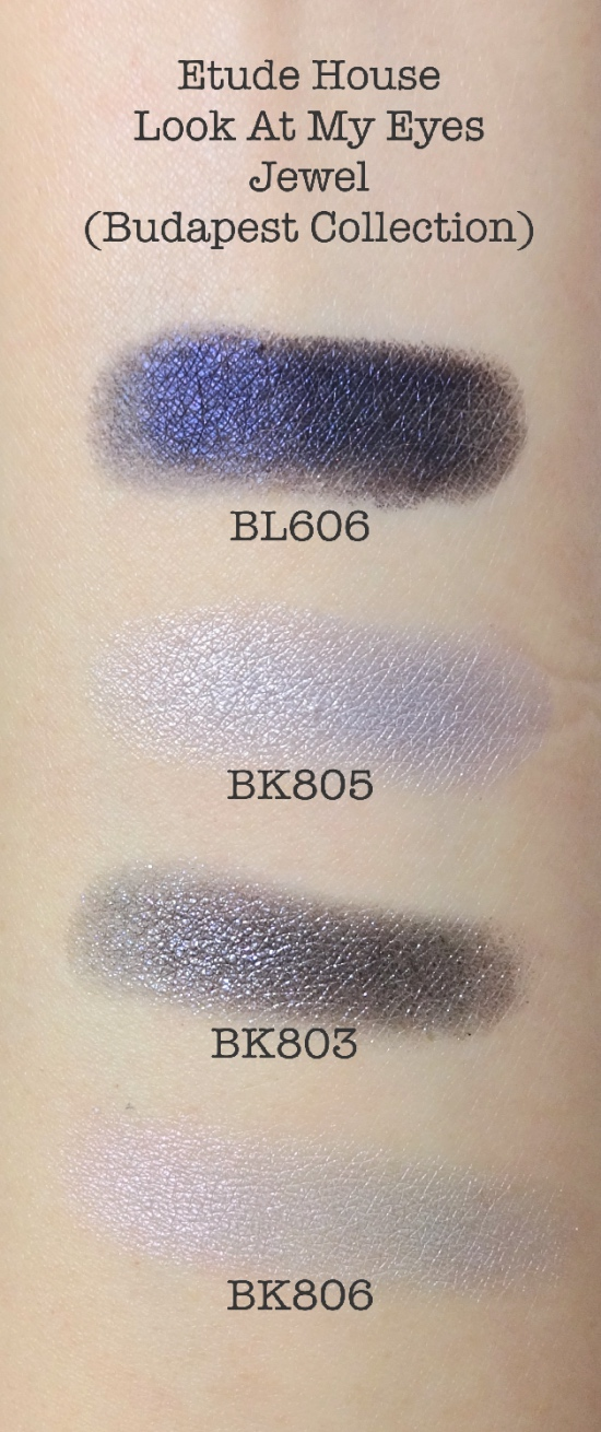 Etude House Look At My Eyes Budapest swatches