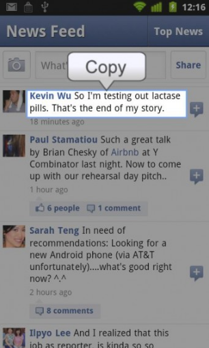 How To Copy And Paste On Facebook App