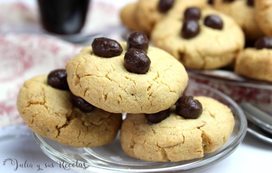 Galletas de mantequilla de cacahuete sin gluten. Julia y sus recetas