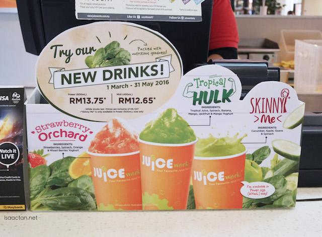 Juice Works Malaysia's Latest Drinks - Spinach Infused Fresh Juices & Smoothies