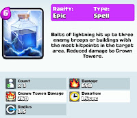 Clash Royale Lightning card pic