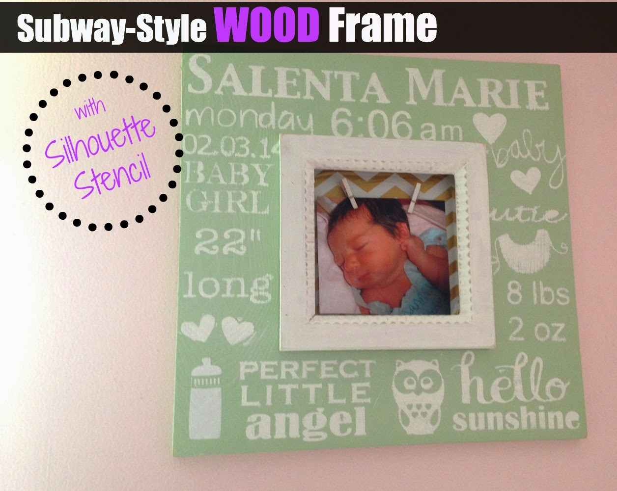 Wood frame, personalized, chunky, Silhouette tutorial