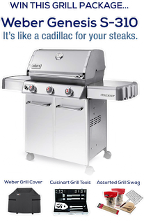 Here's your change to win a $1,100 Weber Genesis S-310 grill. Enter before 6/7 to win.