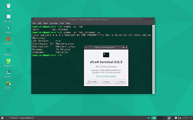 Xfce4 Terminal on Manjaro