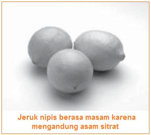 Salah satu contoh asam adalah jeruk nipis - sifat-sifat asam