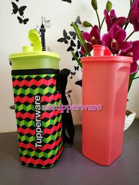 Tupperware  Fridge Water Bottle (2) 2L -Red+Green