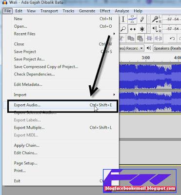 cara menyimpan lagu mp3 di audacity