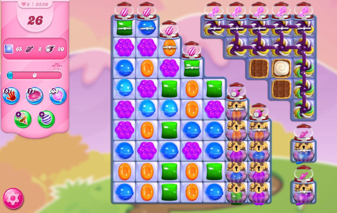Candy Crush Saga level 6520