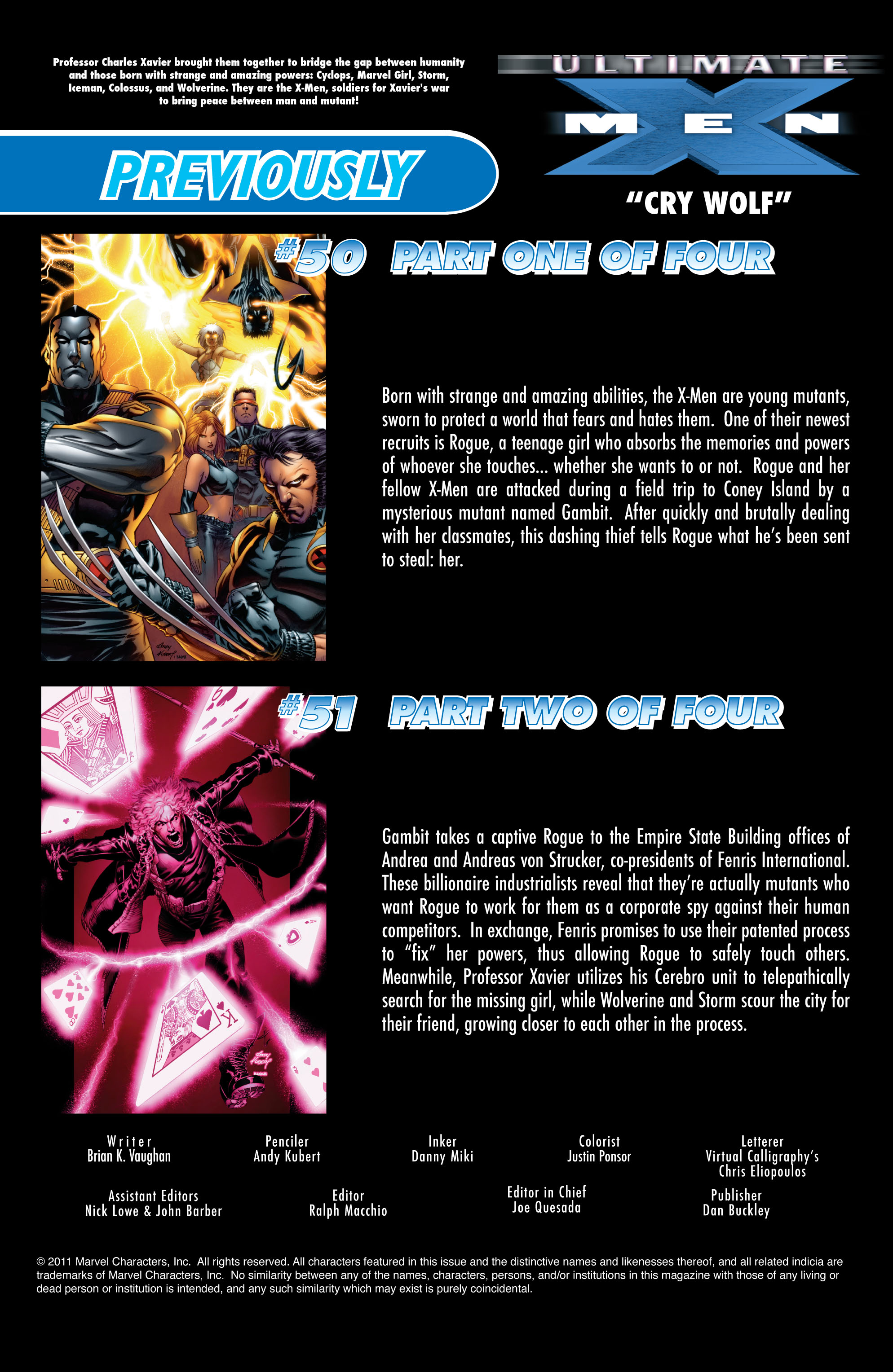 Read online Ultimate X-Men comic -  Issue #52 - 2