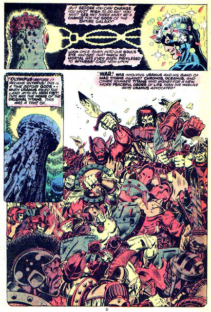 Captain Marvel #29 marvel 1970s bronze age comic book page art by Jim Starlin