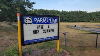 summer wishes on the Parmenter School sign