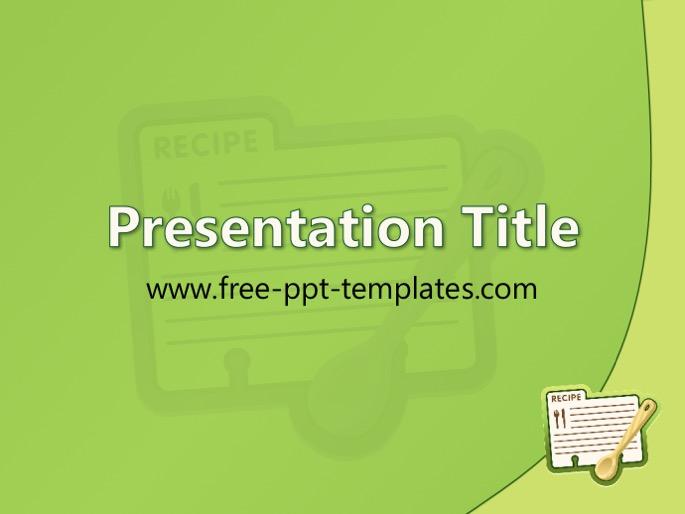 recipe ppt template, Modern powerpoint