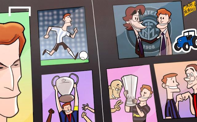 Zanetti in history cartoon
