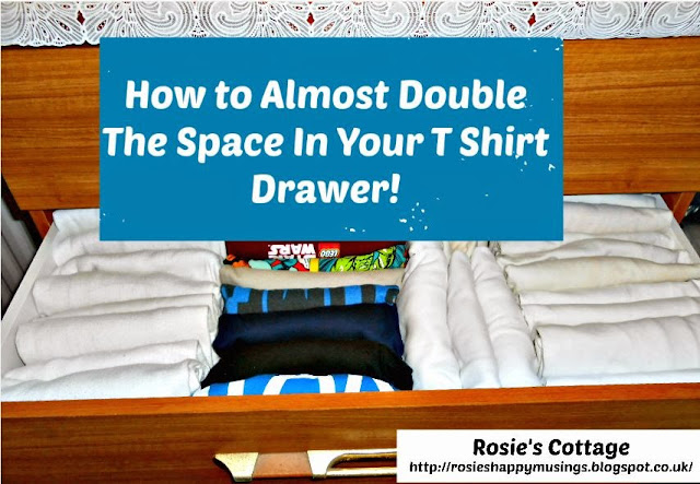 How to file clothes and almost double the space in your t shirt drawer