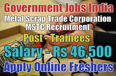 MSTC Recruitment 2018