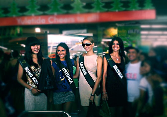 Ms. Earth 2011 Delegates Support SM Hypermarket's Greenbag Lite