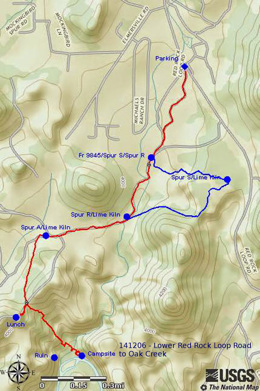 took on the way in without the detour the hike would have been just 4 miles the maximum elevation was 4151 feet the total ascent was 615 feet and
