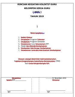 pengesahan laporan KKG PKB