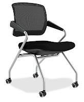 Mayline Valore Mesh Back Training Room Chair
