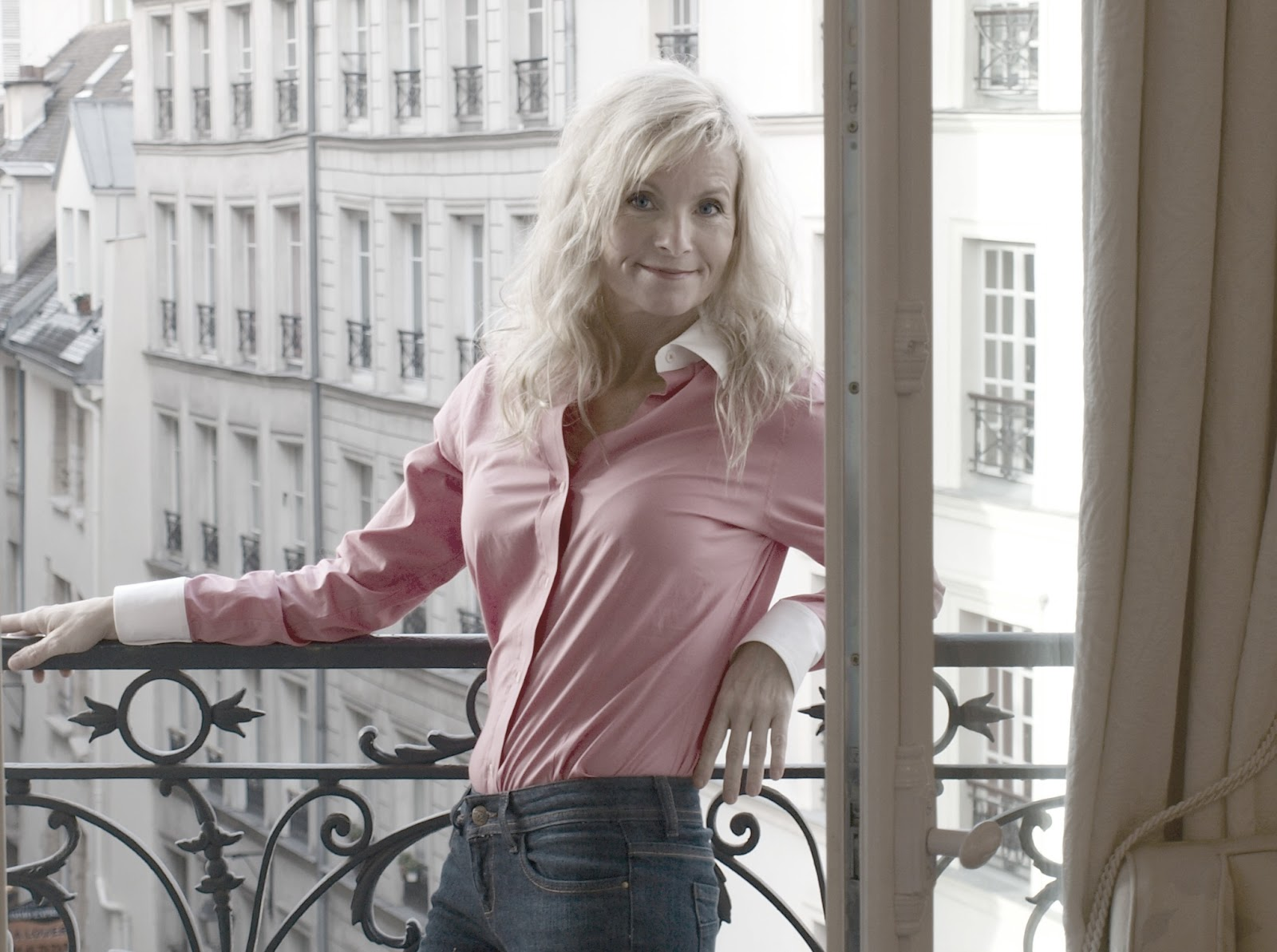 On the balcony of our #parisapartment - Hello Lovely Studio