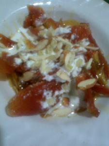 gajar ka murabba (candied carrots)