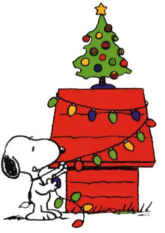 christmas snoopy clipart
