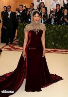 Priyanka Chopra in Maroon Velvet Gown at 2018 MET Costume Insute Gala ~  Exclusive 12.jpg