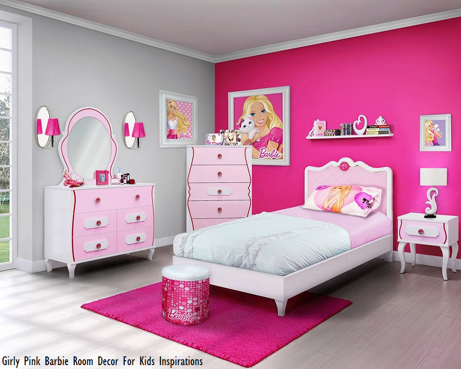 Girly Pink Barbie Room Decor For Kids Inspirations