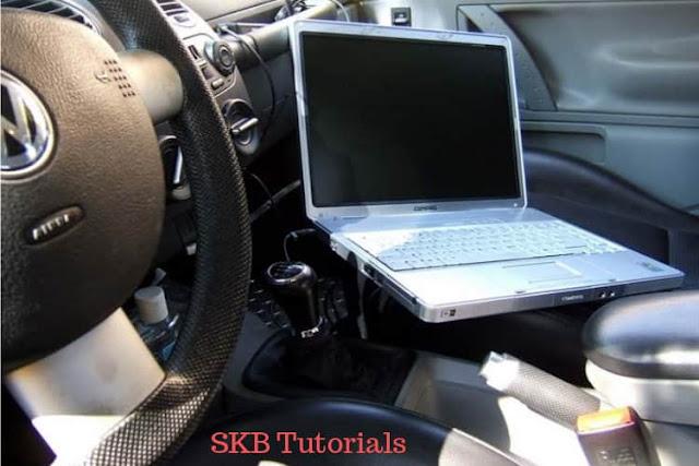 laptop ko car me kabhi na chalaye