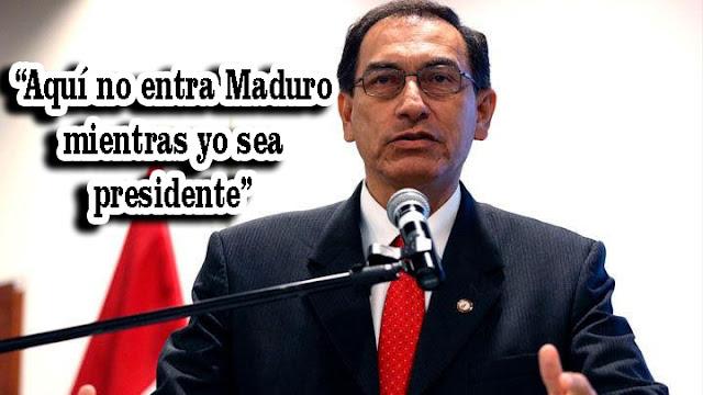 Nuevo presidente de Perú mantiene prohibición de entrada a Nicolás Maduro