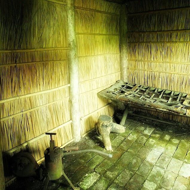 Habitação indígena reconstruída no Museu Indígena de Chuy, Uruguai