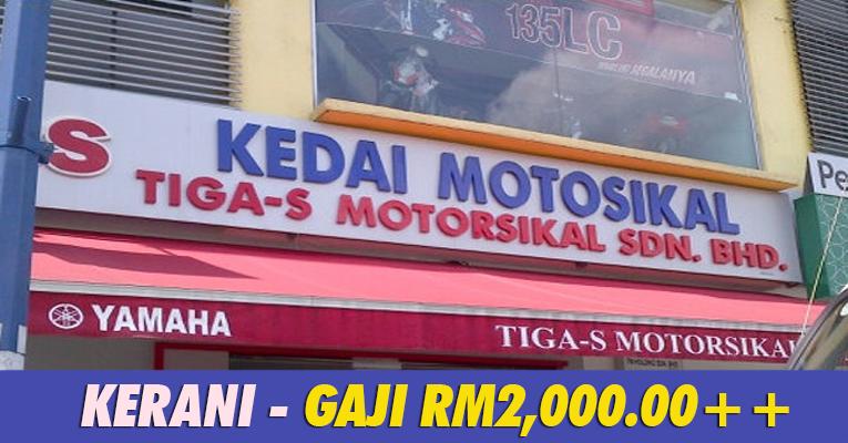 Kekosongan Jawatan Terkini di Tiga-S Motorsikal Sdn Bhd