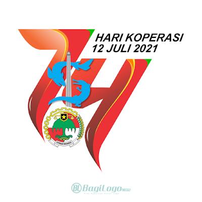Logo Hari Koperasi ke-74 vector