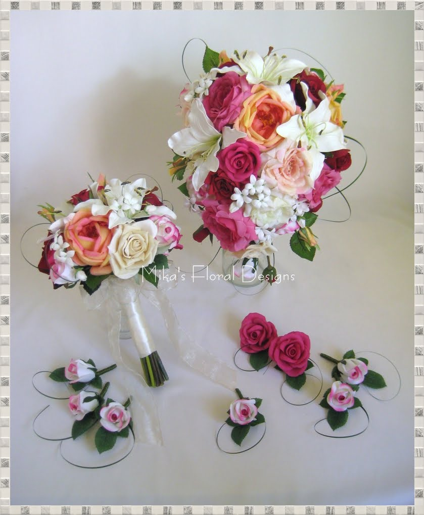 artificial wedding flowers and bouquets australia mixed flowers arrangements in garden style. Black Bedroom Furniture Sets. Home Design Ideas