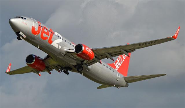 boeing 737-800 jet2 arrived