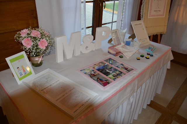 pamiątka ślubna, stół pamiątkowy, inicjały ślubne, zdjęcia ślubne