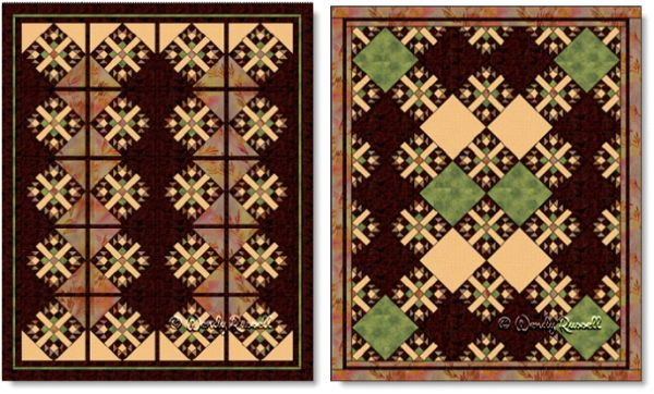 Quilts designed using the BEST FRIENDS quilt block - images © Wendy Russell