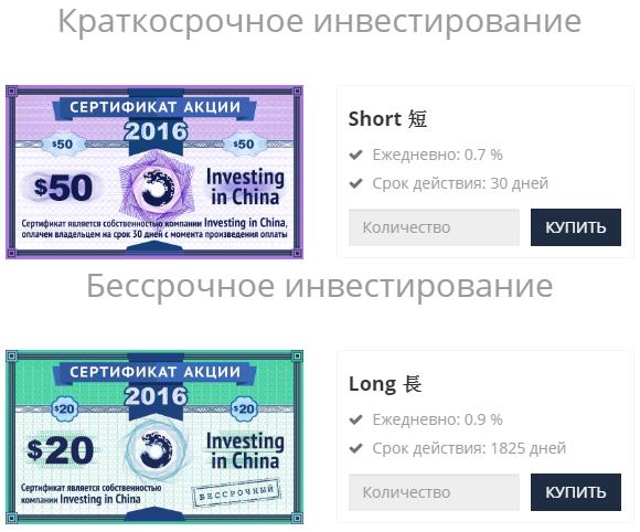 Новые виды акций