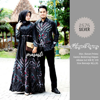 BAJU BATIK COUPLE MODEL GAMIS KATUN PRIMA HQ T2575