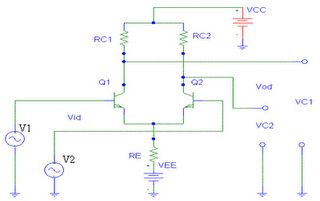 differential amplifier circuit diagram