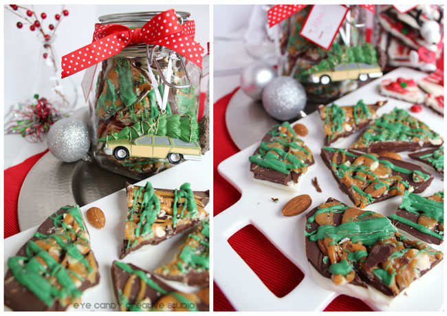 how to make holiday bark, salted almond caramel bark, holiday gift giving