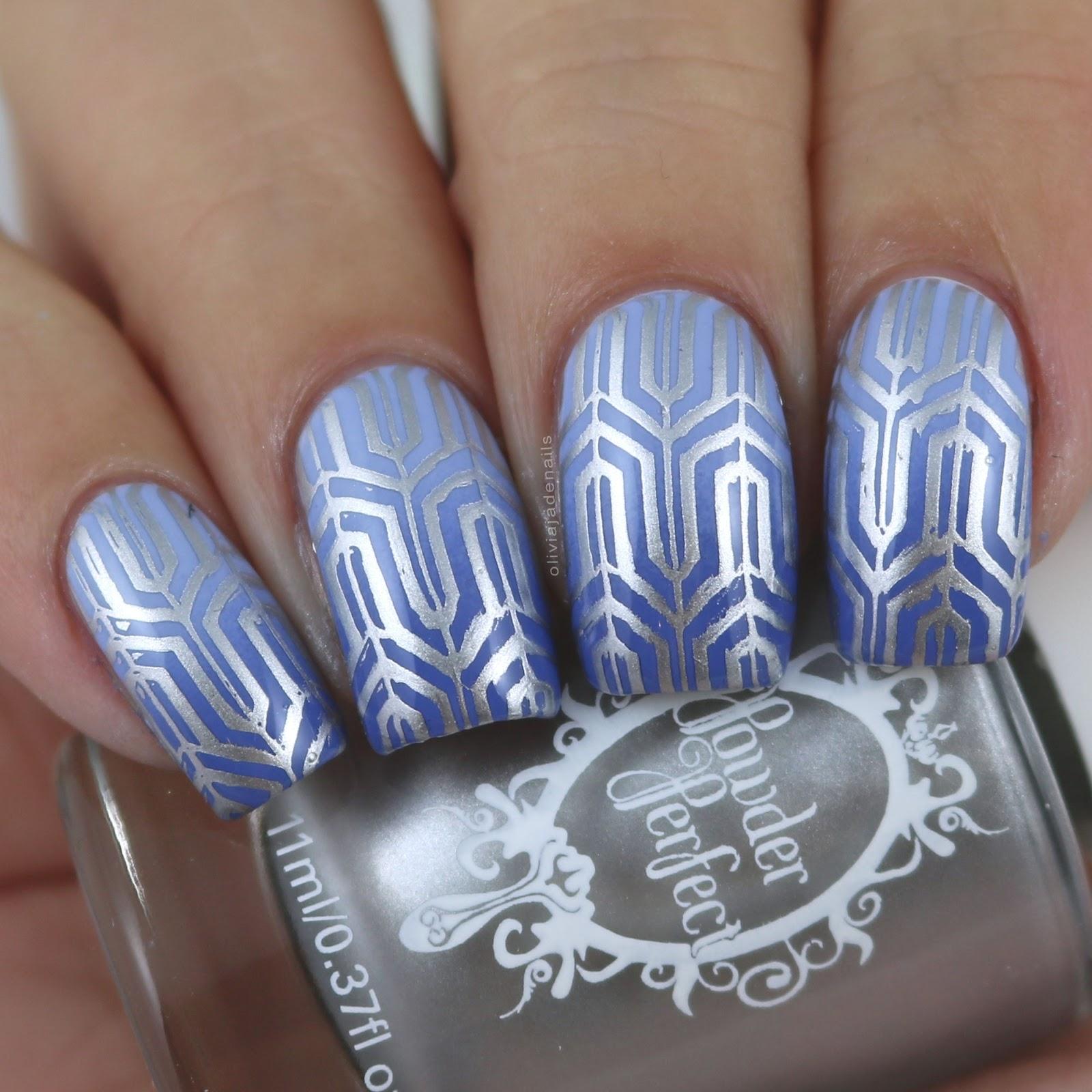 Olivia Jade Nails: Powder Perfect Art Deco 1 Stamping Plate ...