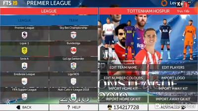 FTS 19 Mod UEFA Champions League