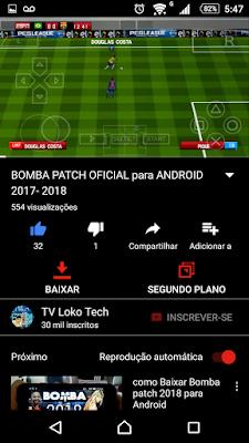 Youtube negro para Android Dark Theme tela inicial download e reprodução em segundo plano