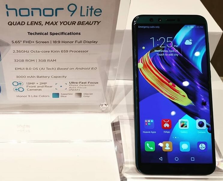 Honor 9 Lite with Quad Cameras Launches in PH Through Shopee for Php7,990