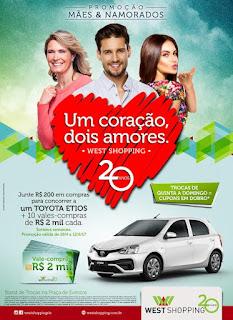 West Shopping sorteará carro e vales-compra na promoção unificada de Dia das Mães & Namorados