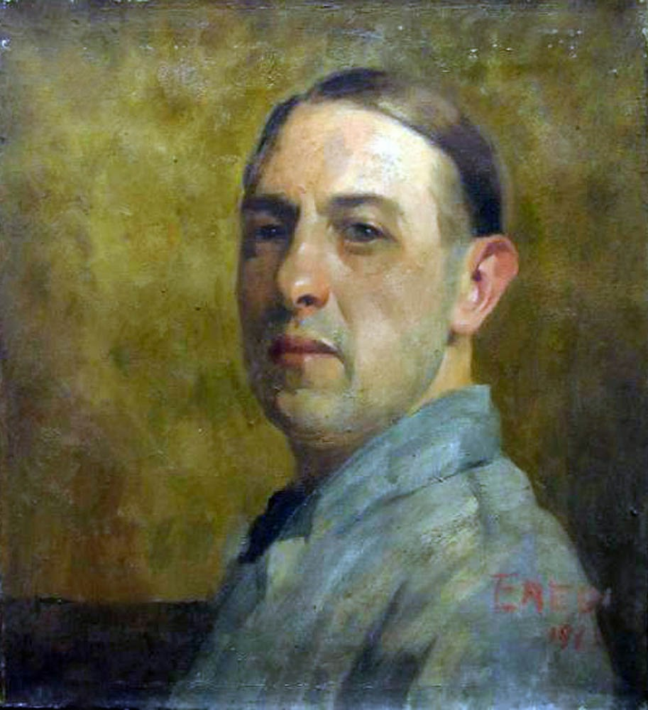 Oscar Eredi, Self Portrait, Portraits of Painters, Fine arts, Portraits of painters blog, Paintings of Oscar Eredi, Painter Oscar Eredi
