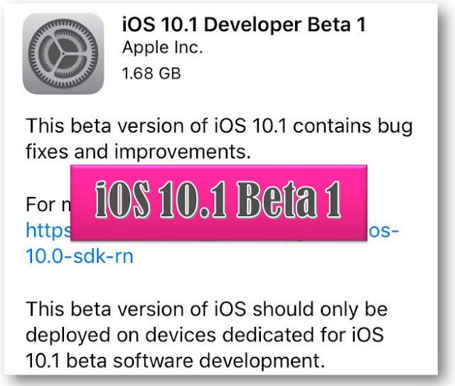 Apple has released the iOS 10.1 beta 1 software version with a build number 14B55c to developers for testing. iOS 10.1 fixes motion, access barometric pressure data